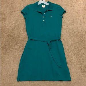 Short green Lacoste dress